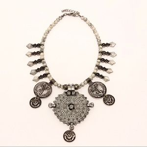 Vintage necklace with coin accents Made in Iran